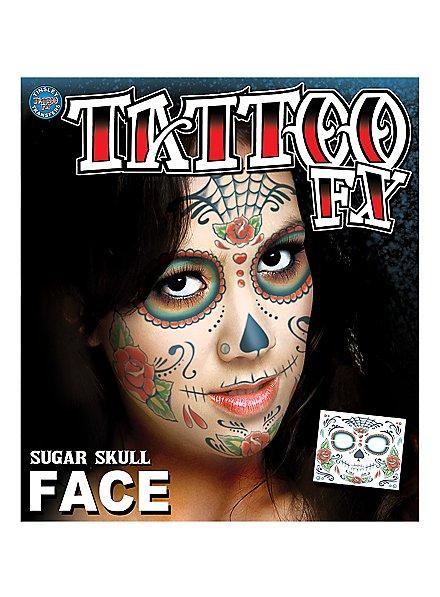 Sugar Skull Gesicht-Klebetattoo