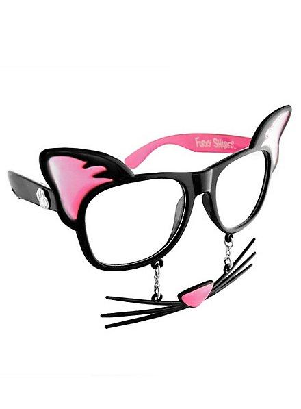 Sun-Staches Cat Party Glasses