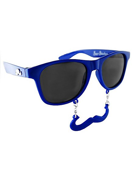 Sun-Staches Classic navy blue Party Glasses