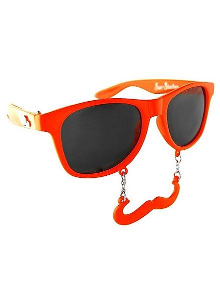 Sun-Staches Classic orange Party Glasses