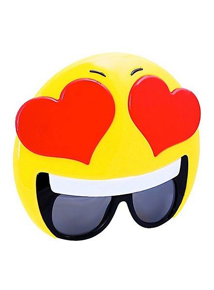 Sun-Staches Love Emoji Party Glasses