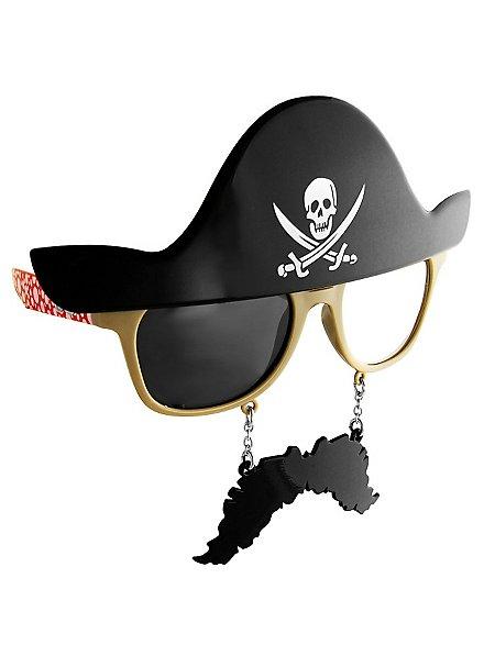 Sun-Staches Pirate Party Glasses