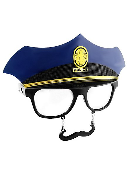 Sun-Staches Police Officer Party Glasses