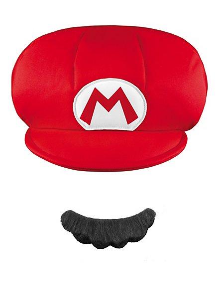 Super Mario Mütze & Bart Set für Kinder