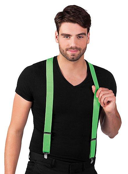 Suspenders neon green