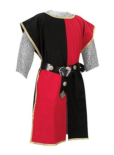 Tabard de chevalier noir et rouge