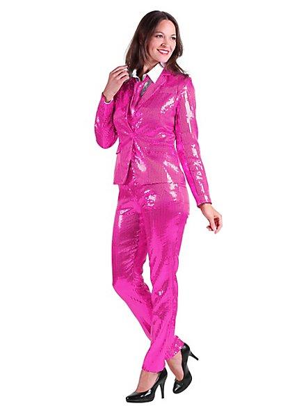Tailleur à paillettes rose