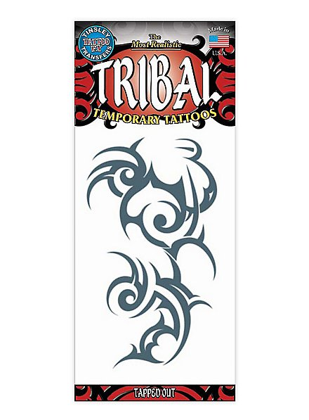 Tapped Out Tribal Temporary Tattoo