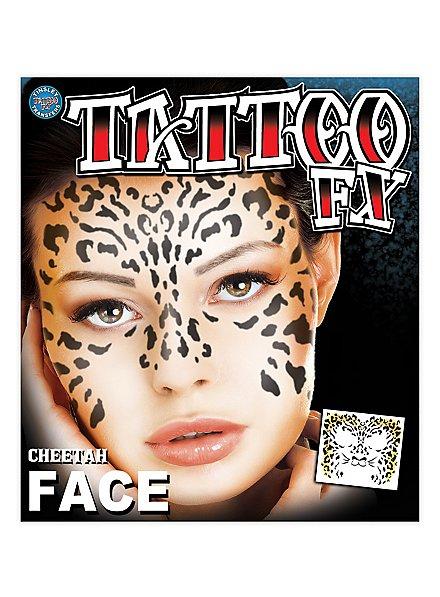 Tatouage décalcomanie visage léopard