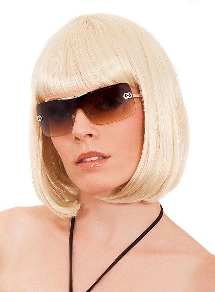 Tête de page blond Perruque