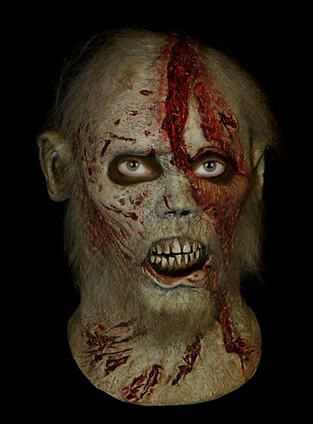 The Walking Dead Bärtiger Zombie Maske aus Latex