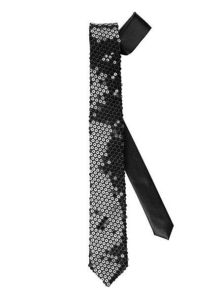 Tie sequins black