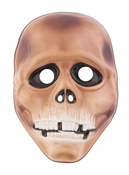 Totenkopf Kindermaske aus Kunststoff