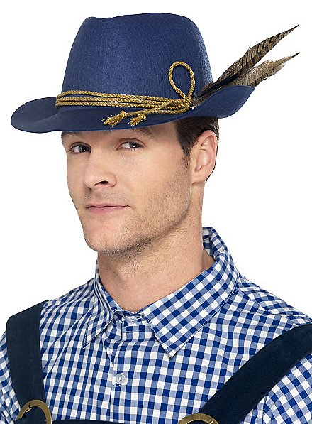 traditional hat blue