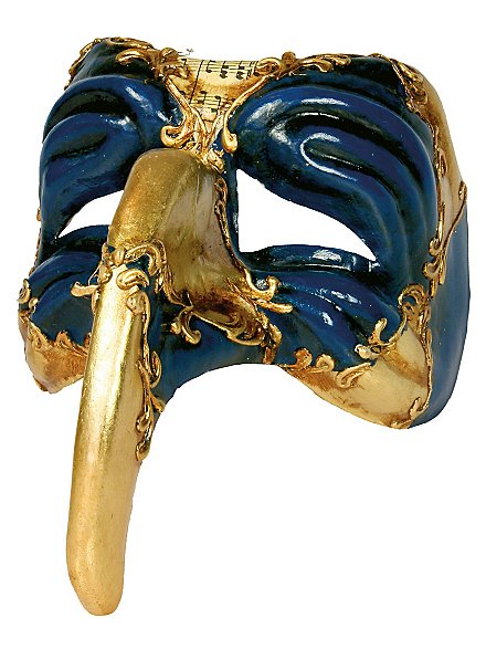 Turchetto oro blu - Venezianische Maske
