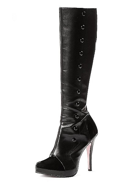 Uniform Boots Synthetic Leather black-white