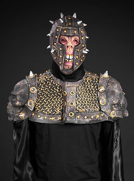 Untoter Ritter Maske mit Umhang