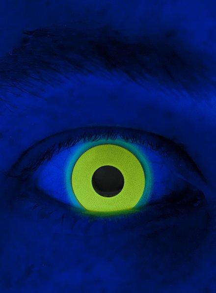 UV jaune Lentilles de contact