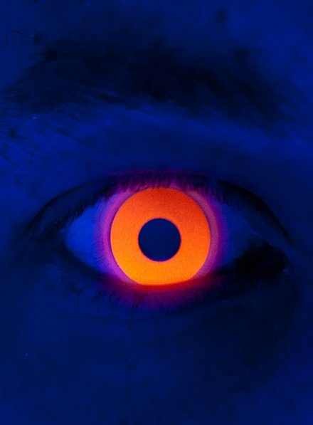 UV orange Lentilles de contact