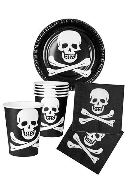 Vaisselle jetable pirate
