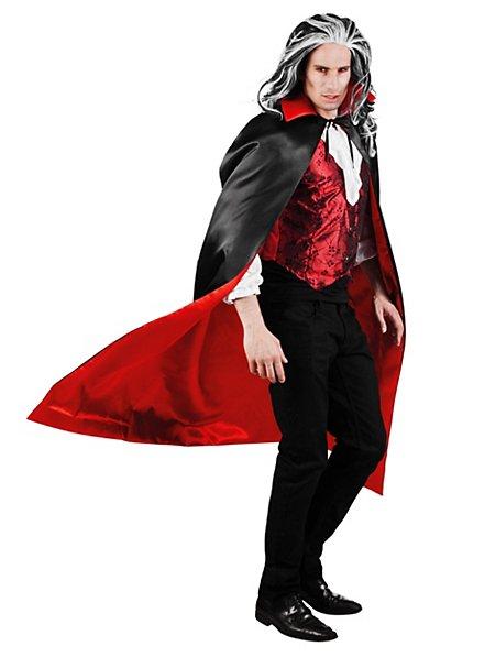 Vampir Cape schwarz-rot zum Wenden
