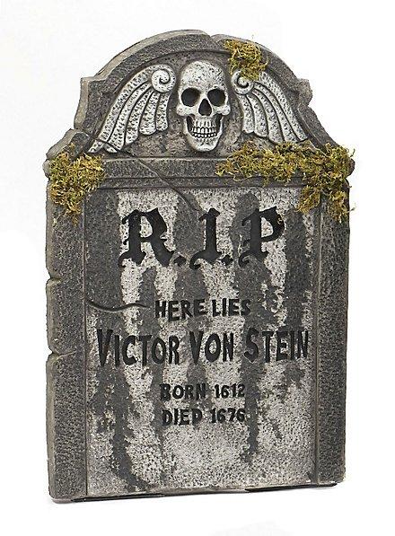 Victor Grabstein mit Moos Halloween Deko