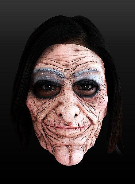 Vieille diva Demi-masque en latex