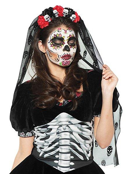 Voile têtes de mort Dia de los Muertos
