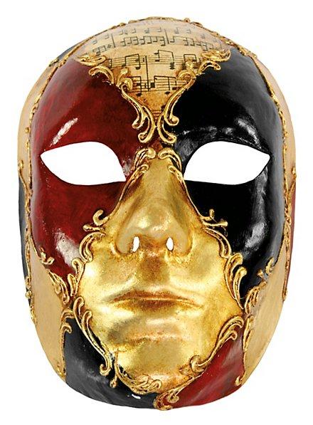 Volto Femminile schacchi colore musica - Venezianische Maske