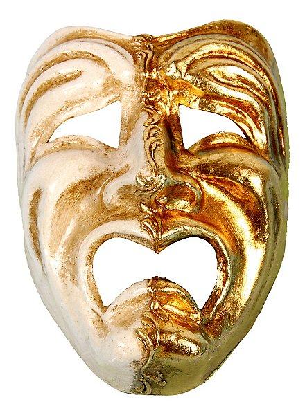 Volto piangi oro bianco - Venezianische Maske