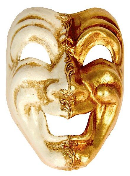 Volto ridi oro bianco - Venezianische Maske