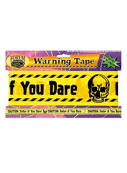 Warning Tape Halloween Decoration