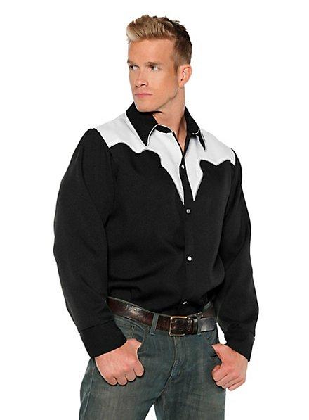 Western Shirt Cowboy black-white