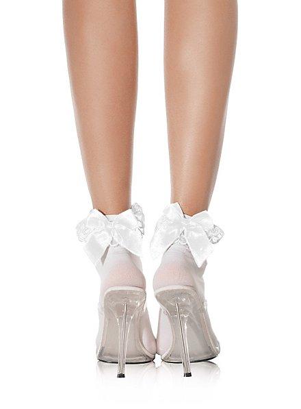 White socks with ribbon