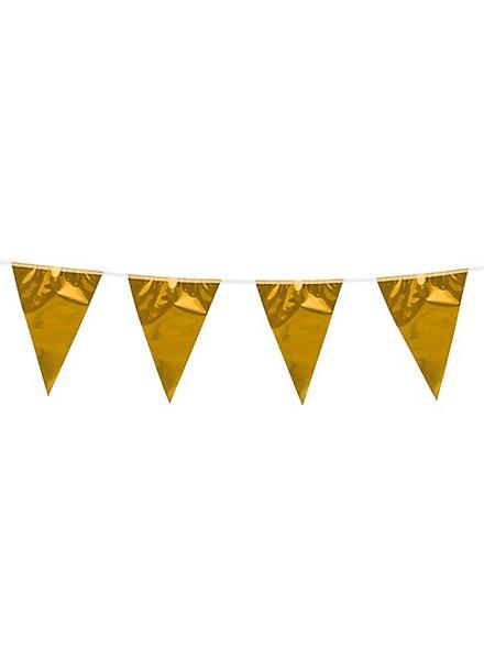 Wimpelkette 10 Meter gold metallic