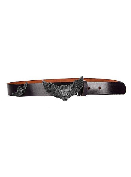 Winged Death Head Belt