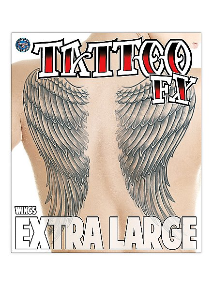 XL Wings Temporary Tattoo