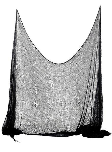 Zerschlissenes Tuch schwarz