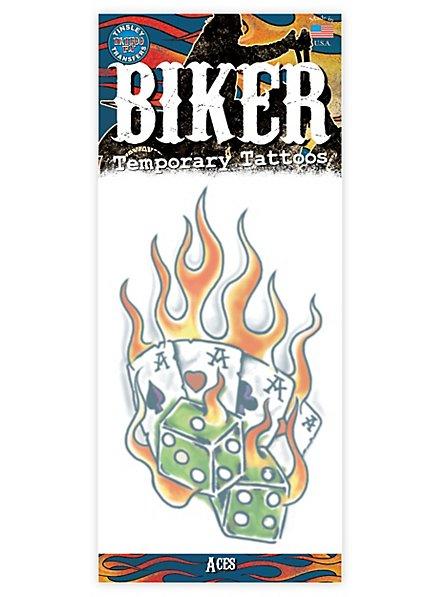 Zocker Klebe-Tattoo