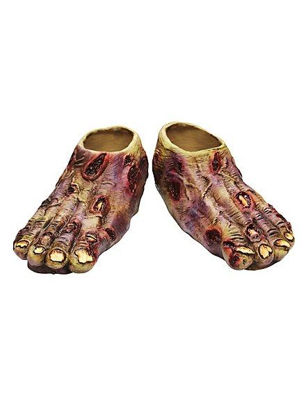 Zombie Feet blue made of latex