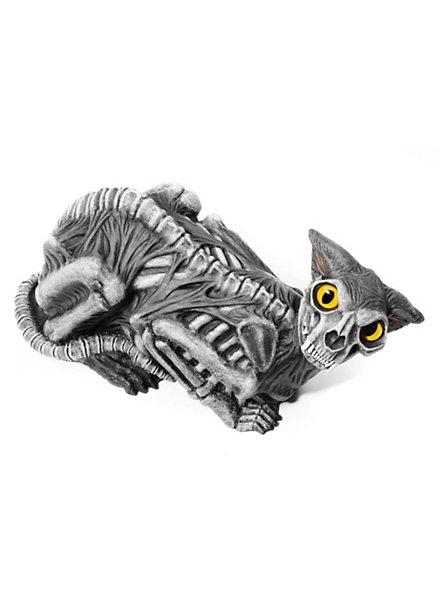 Zombie Katze animierte Halloween Deko