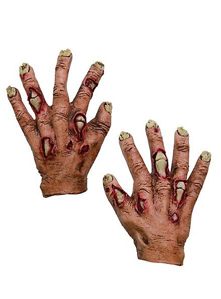 Zombiehände für Kinder rot