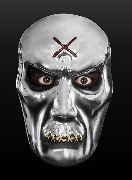 Zombiemaske silber