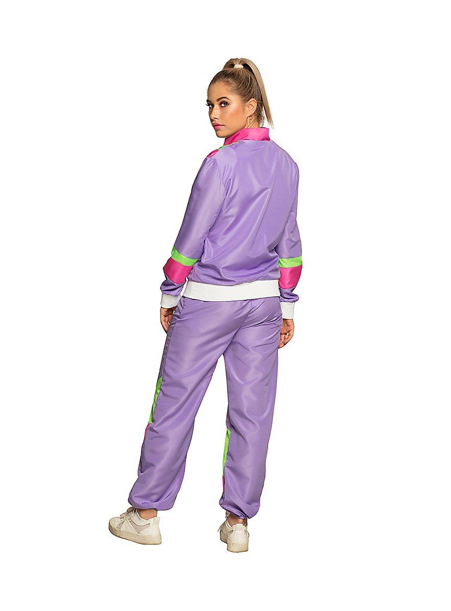 80s tracksuit purple for women - maskworld.com