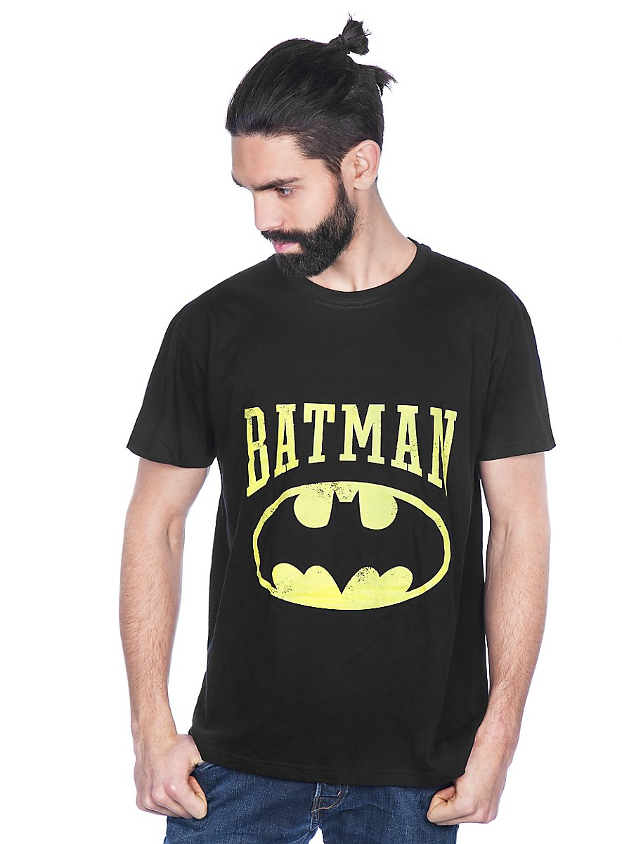 Batman vintage logo shirt superhelden t shirt maskworld for Old logo t shirts