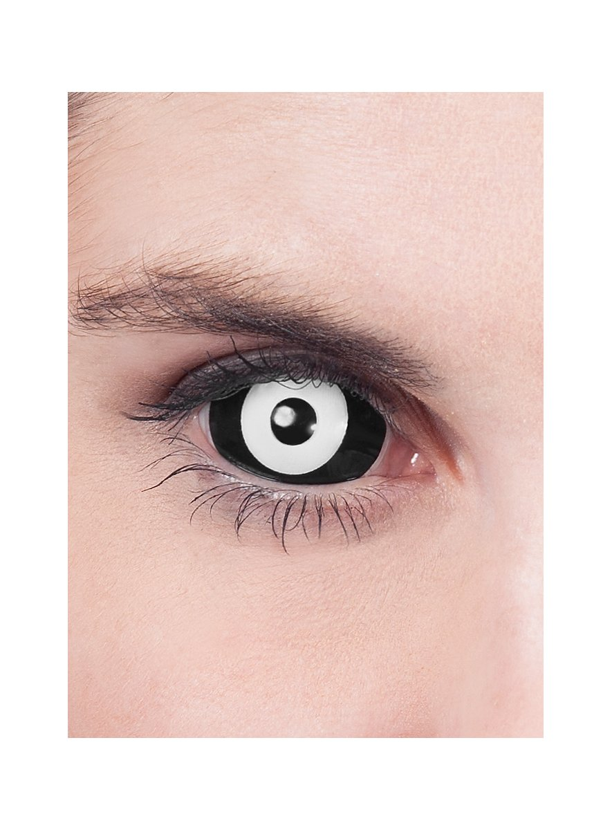 Black Amp White Sclera Contact Lenses Maskworld Com
