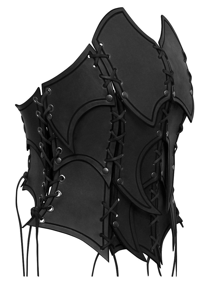 bustier d 39 elfe noire en cuir. Black Bedroom Furniture Sets. Home Design Ideas