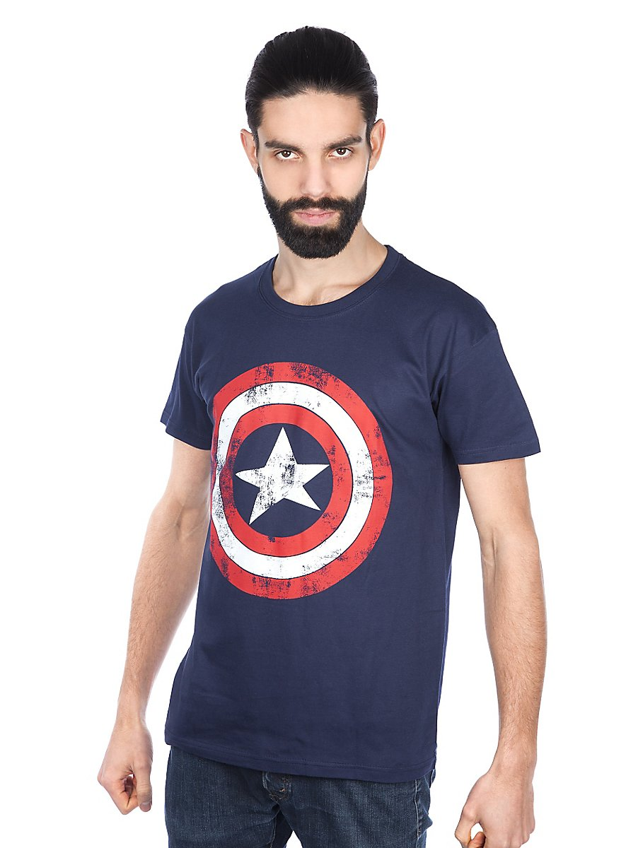 captain america t shirt superhelden shirt jetzt kaufen. Black Bedroom Furniture Sets. Home Design Ideas