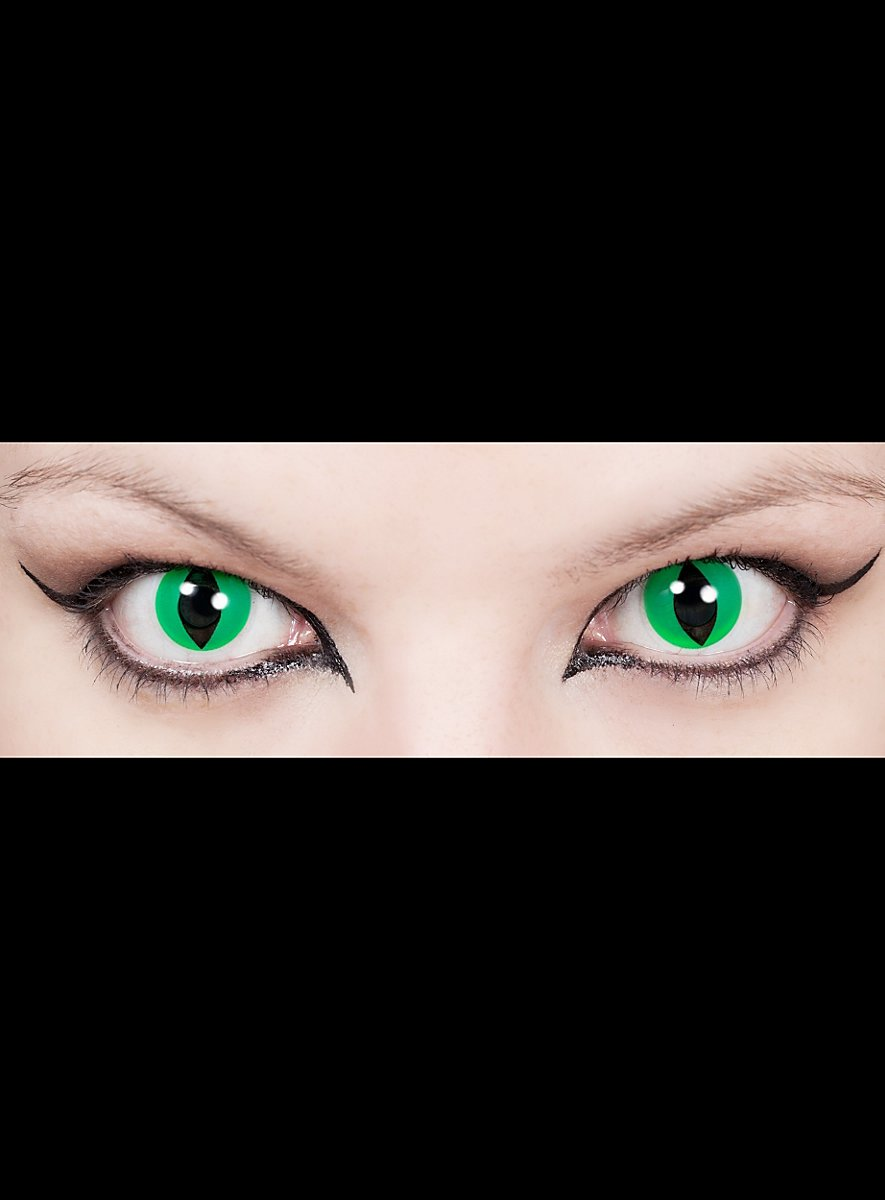 Cat Eye Green Special Effect Contact Lens Maskworld Com