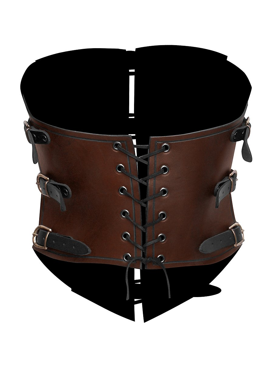 corset en cuir marron de femme pirate de l 39 air. Black Bedroom Furniture Sets. Home Design Ideas